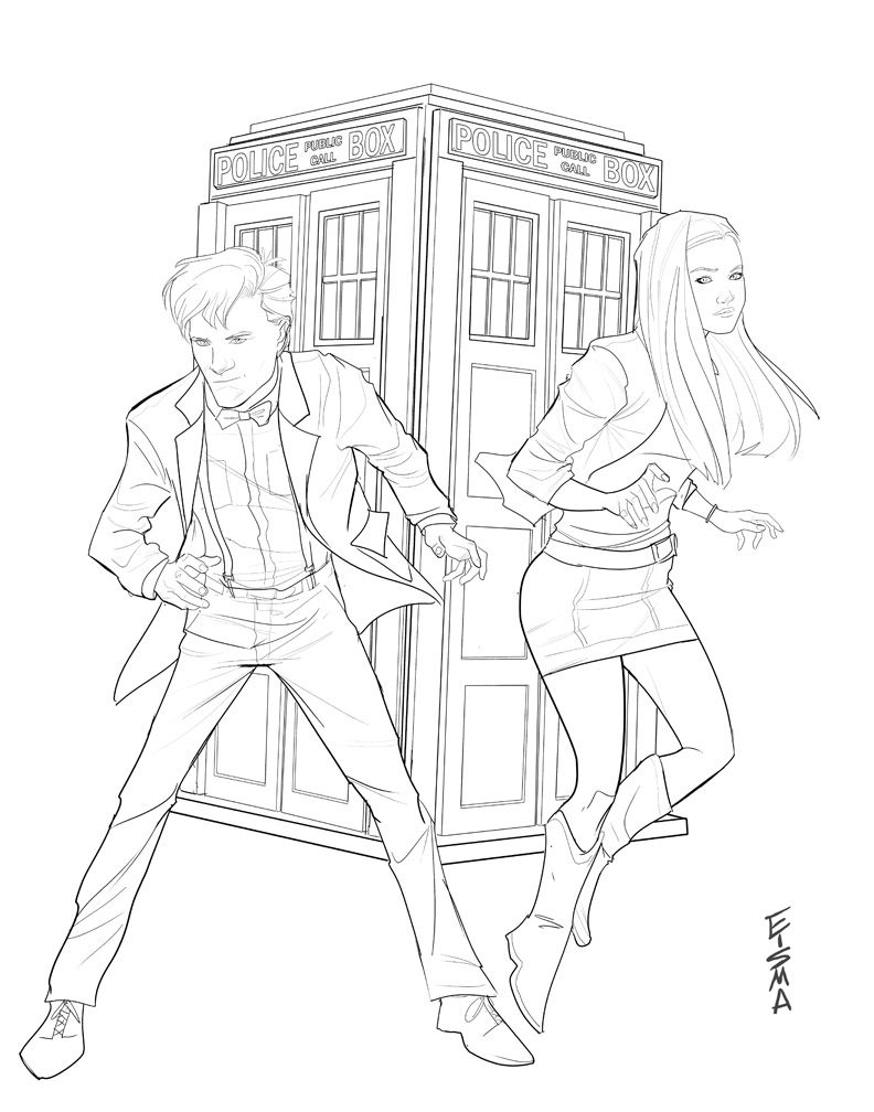 doctor who coloring pages amy pond Dr. Who and Amy Pond by Supajoe on deviantART | DOCTOR WHO | ART  doctor who coloring pages amy pond