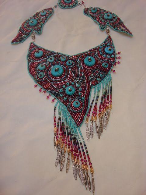 """Maria Merabyan Art and Design: Collar """"los sueños de color turquesa"""" - Колье """" Би..."""