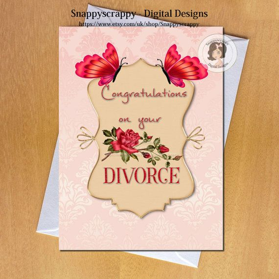 Divorce printable cards greeting cards divorce card topper card divorce printable cards greeting cards divorce card topper card fronts print your own print yourself card toppers solutioingenieria Images