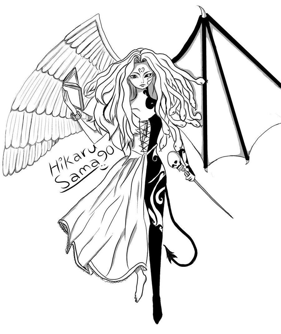 Anime Demon Wings Google Search Demon Drawings Angel Drawing Angels And Demons