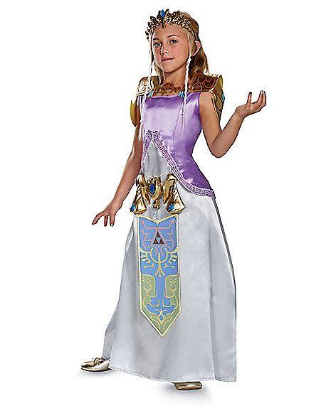 Kids Princess Zelda Costume Deluxe - Legend of Zelda - Spirithalloween.com