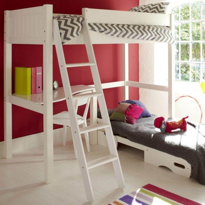 Warwick High Sleeper Bed With Futon Silk White In 2019