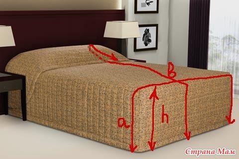 Как сшить чехол на кровать