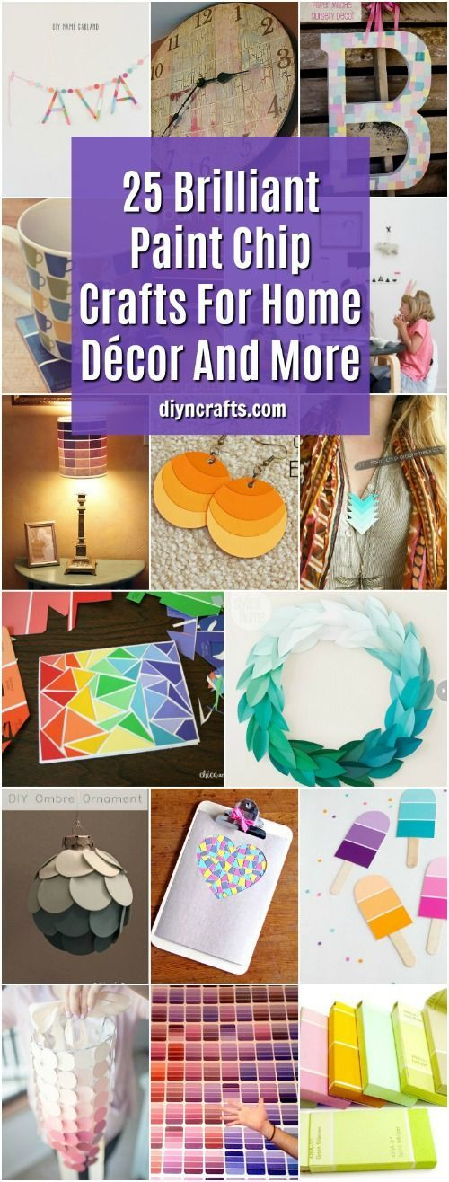 25 Brilliant Paint Chip Crafts For Home Decor And More Home Decor