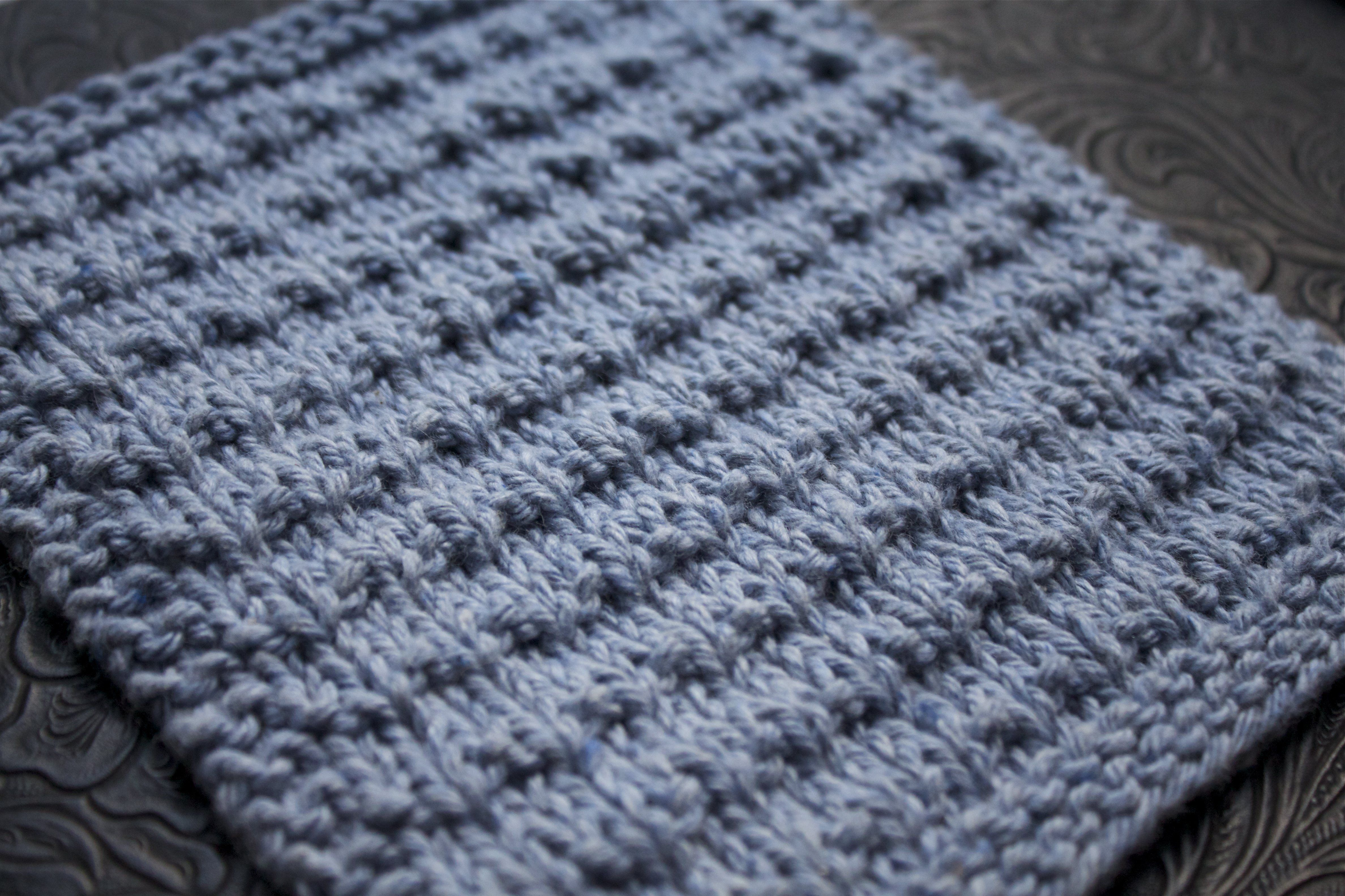 Andalutheean Knitted Dishcloth free pattern on Little House in the ...