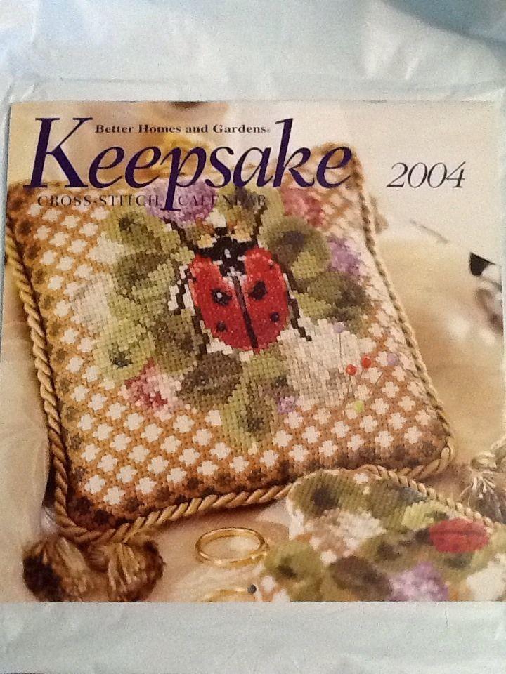 Keepsake Calendar 2004 Cross Stitch Needlework Patterns Better