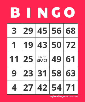 Free Printable Number Bingo Card Generator Crafts Free