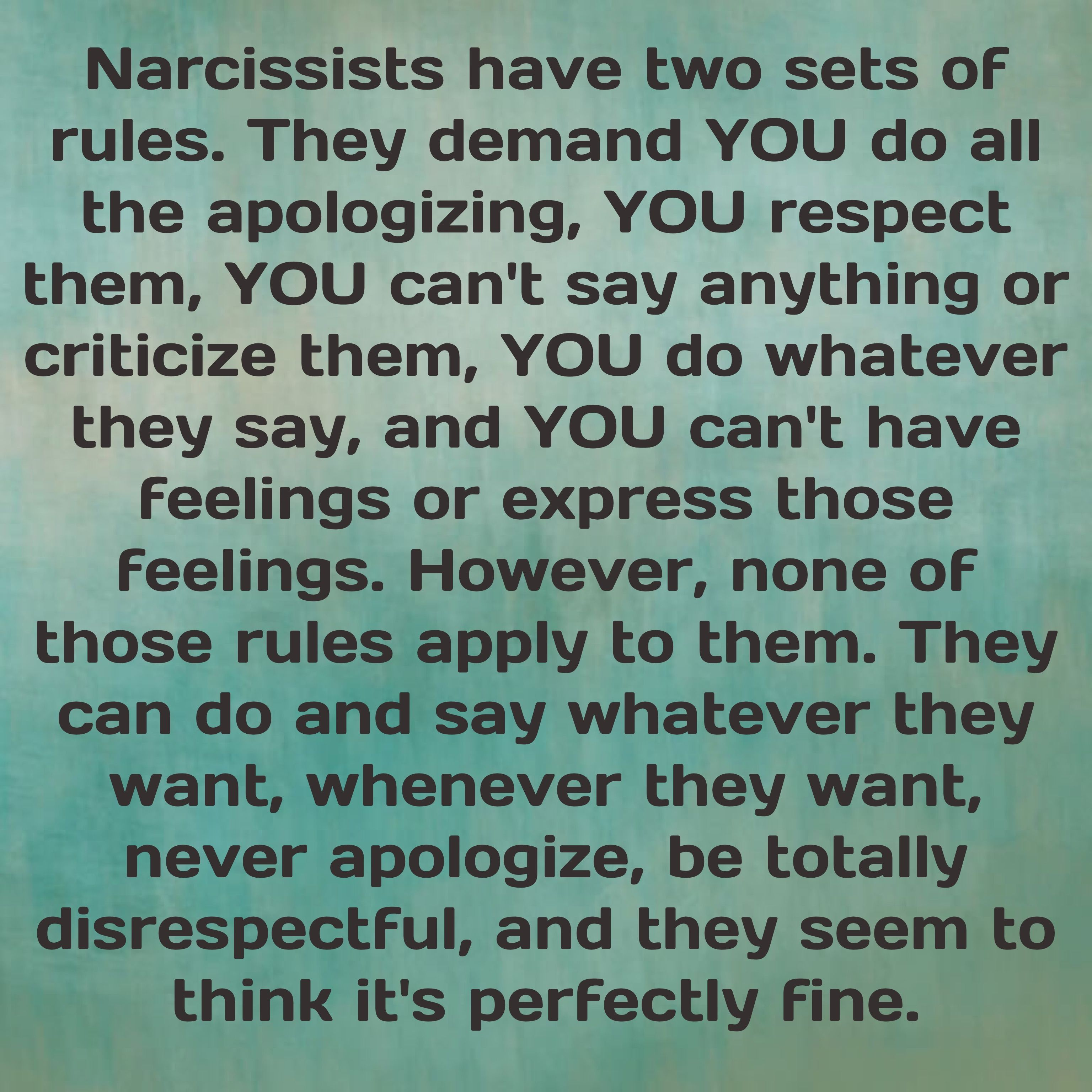 Narcissists And Their Hypocrisy And Double Standards