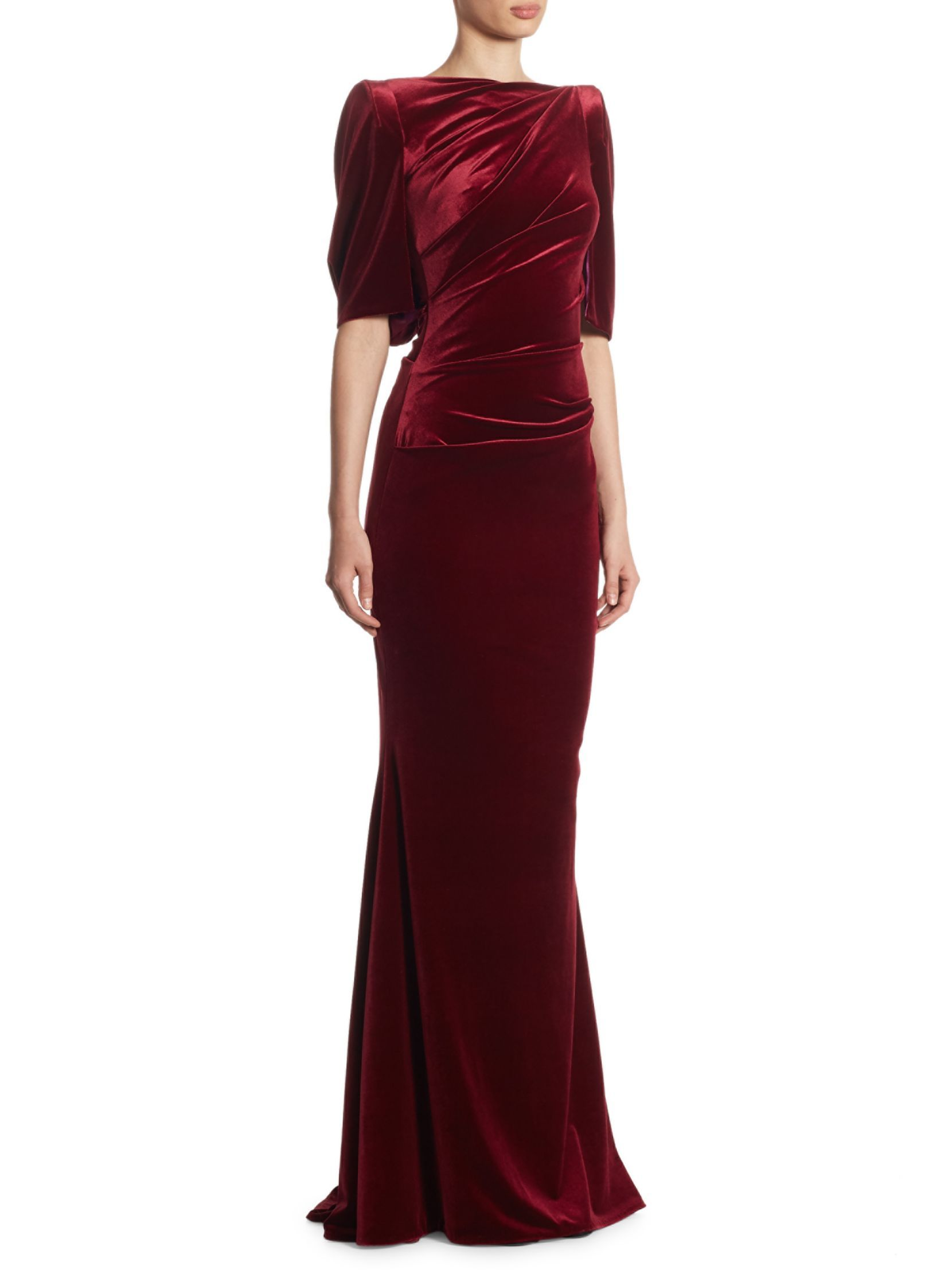 Neiman marcus dresses for weddings  Ruched Velvet Gown  Pinterest  Velvet gown Talbot runhof and Talbots