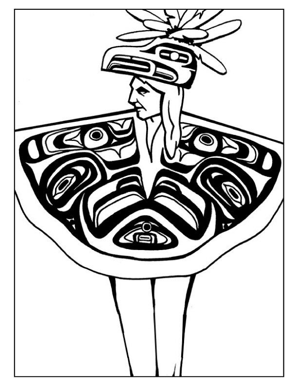 Native American Designs Coloring Pages | Wood Carvings | Pinterest