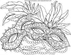 MardiGrasMedium - | Portadas 1° primaria | Coloring pages ...