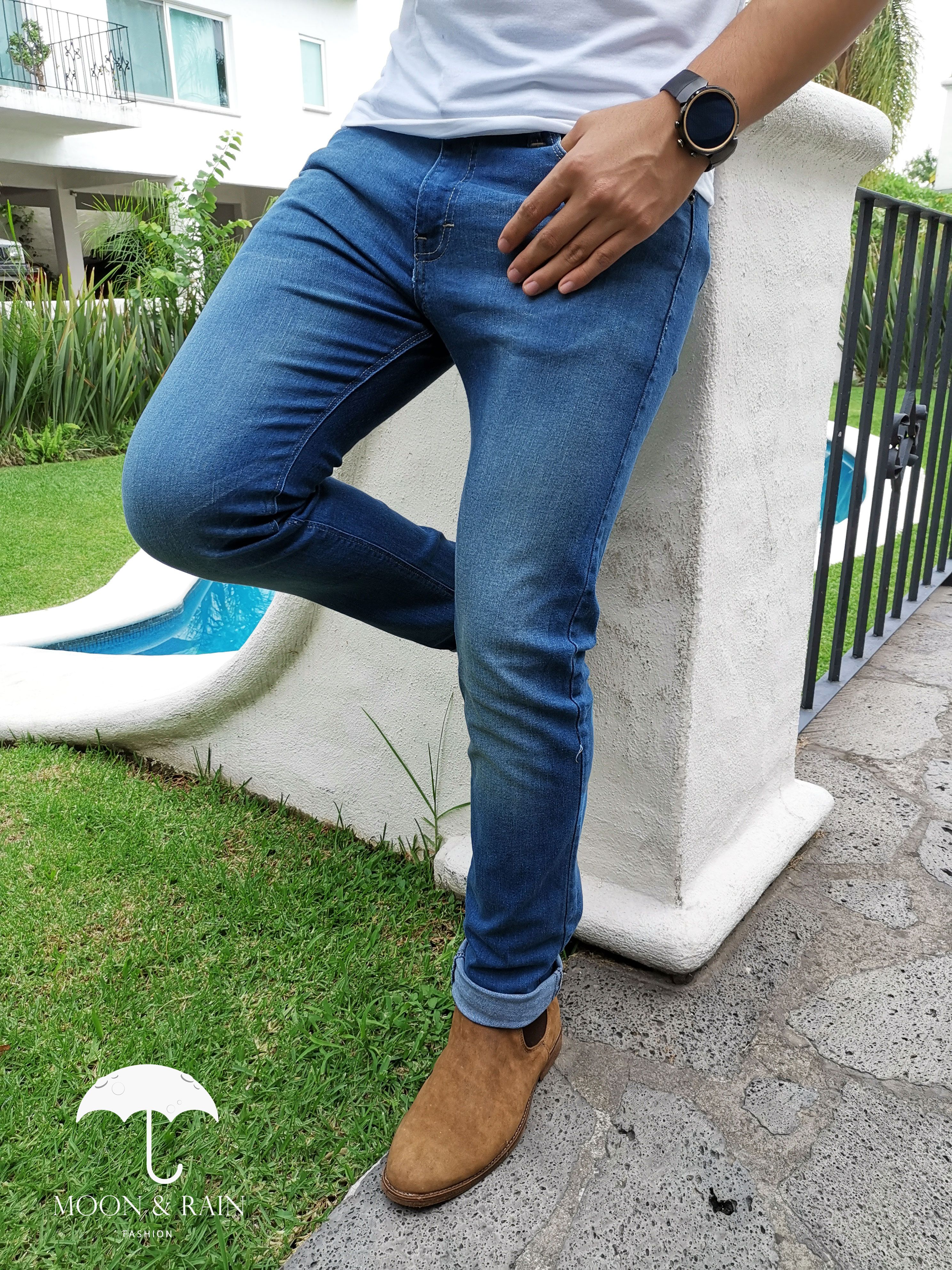 Pantalon Azul Claro Moda Ropa Hombre Ropa De Hombre Jeans Skinny