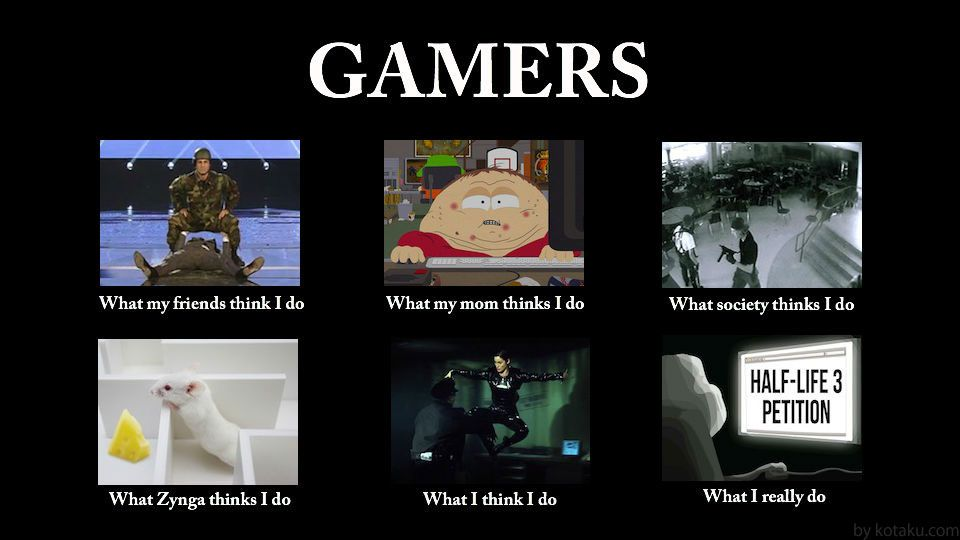 What People Think Gamers Do Gamer Meme Funny Games Gamer