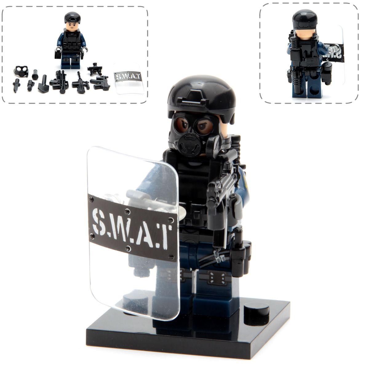 Gun Militaire Armée Swat Figure Armes Soldats Ville Police Avec Pack DH9e2WIYbE