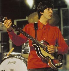 Paul McCartney With His Hofner 500 1 Violin Bass