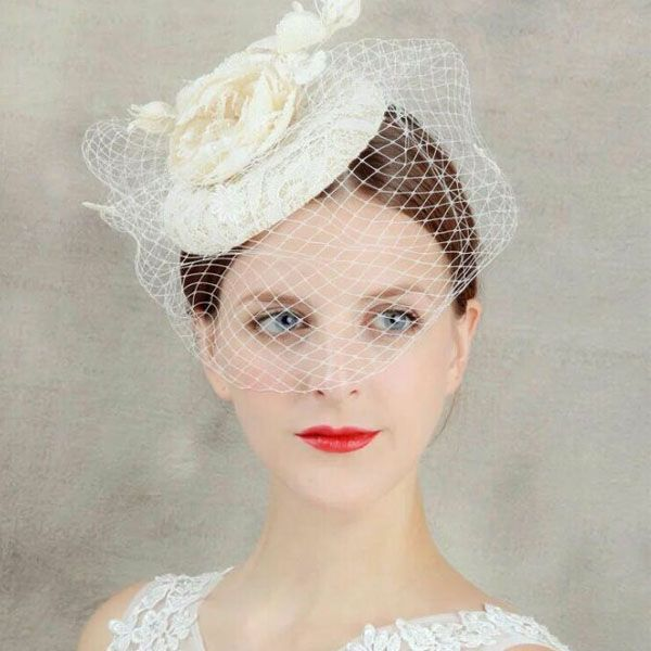 Cheap Hair Jewelry Buy Quality Wedding Accessories Directly From China Tiara Crown Suppliers White Tulle Cap Bird Cage Veil