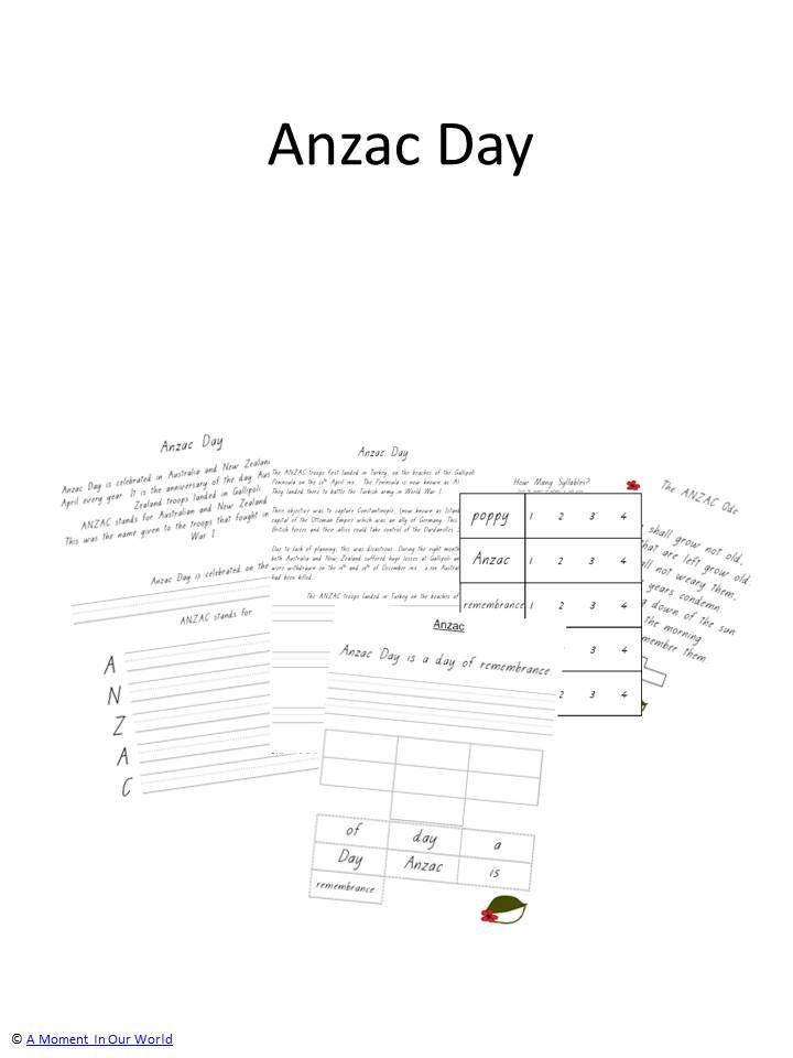 Includes: History and Meaning of Anzac The Anzac Ode How Many ...
