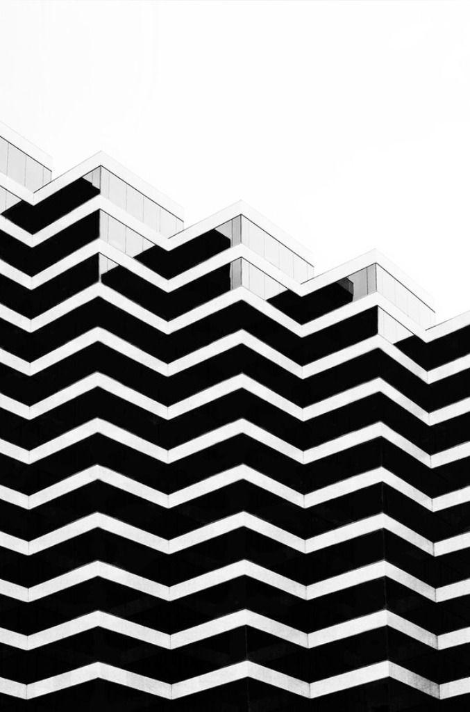 zig zag + black white Schwarz weiß, Minimalistische