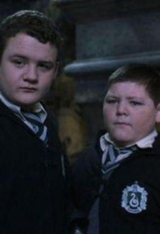 Vincent Crabbe And Gregory Goyle Jamie Michael Waylett And Joshua Herdman Goyle Harry Potter Harry Potter Movies Harry Potter Characters