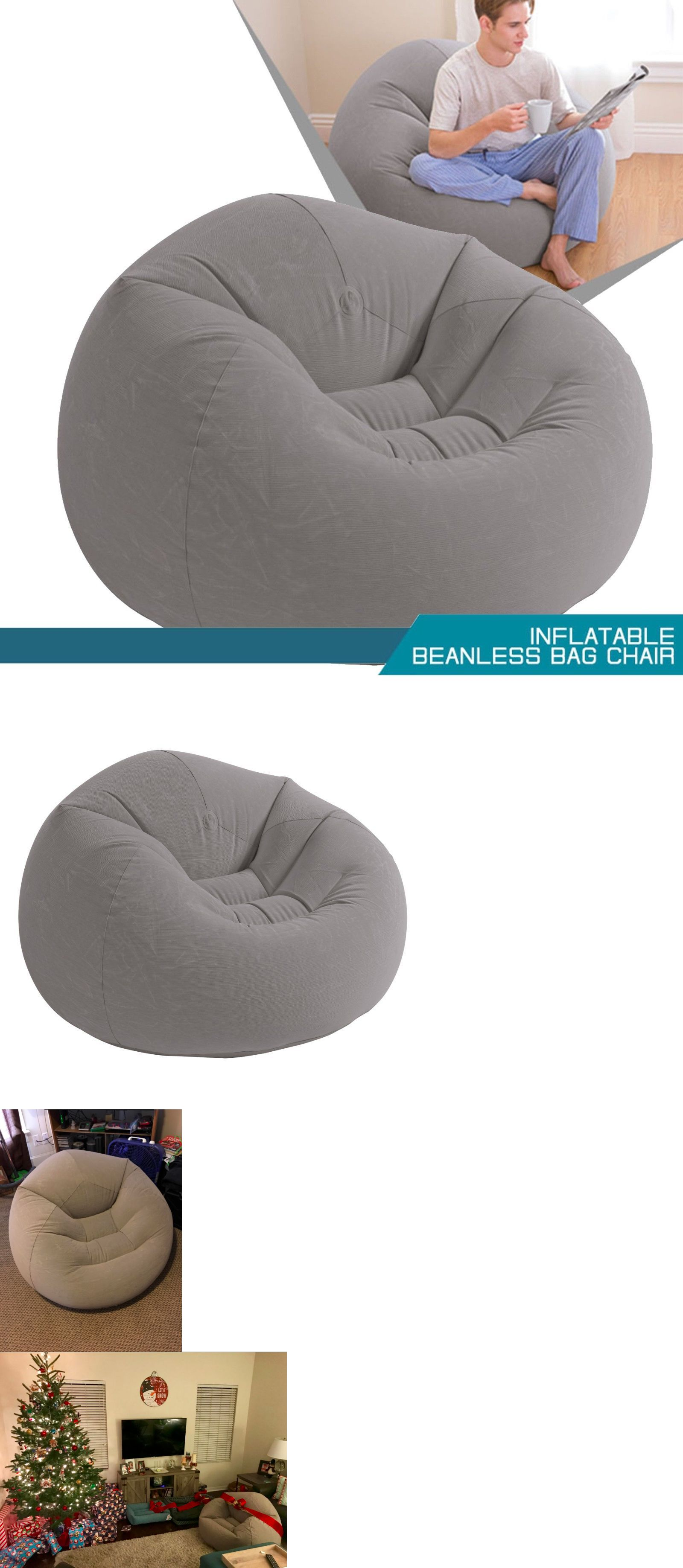 Inflatable furniture  Bean Bag Chair Inflatable Beanless ud xud xud Inflates Quickly