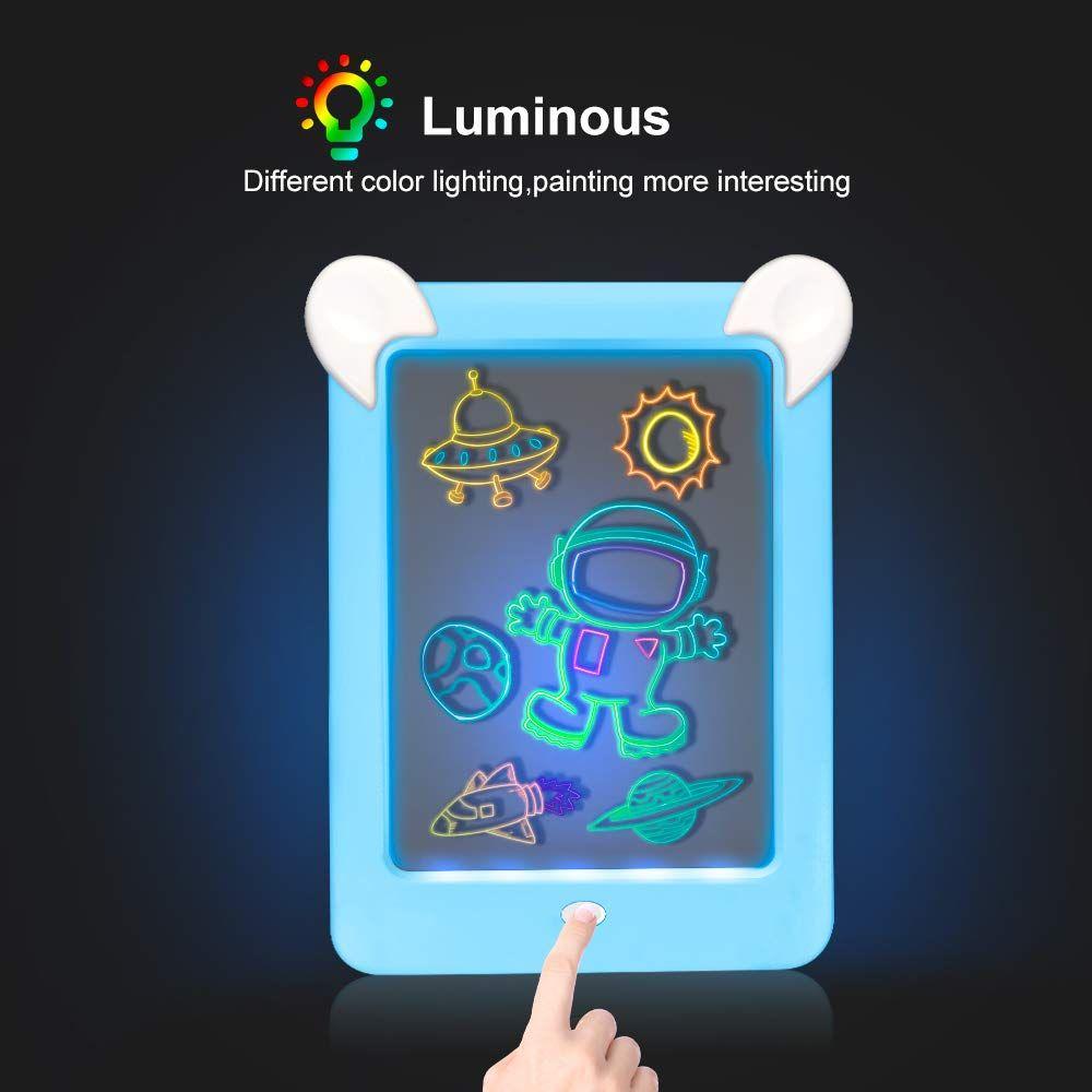 Tableta De Dibujo Pizarra 3d Magico Con Luces Led Educativo Infantil Dibujo Marco De Fotos Regalos Juguete Marco De Fotos Dibujos Pizarra Juguetes Para Ninas