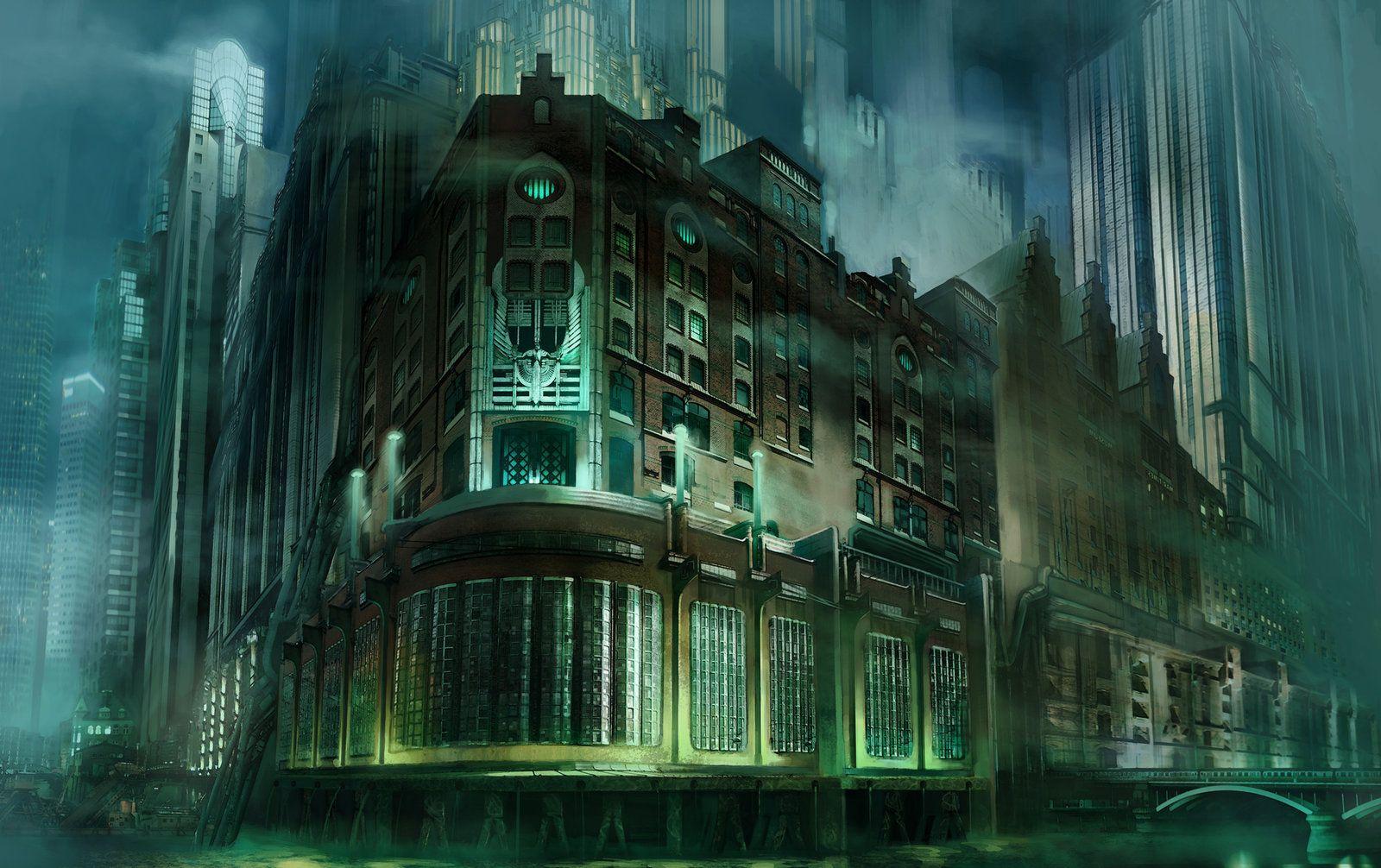 Art Deco city concept
