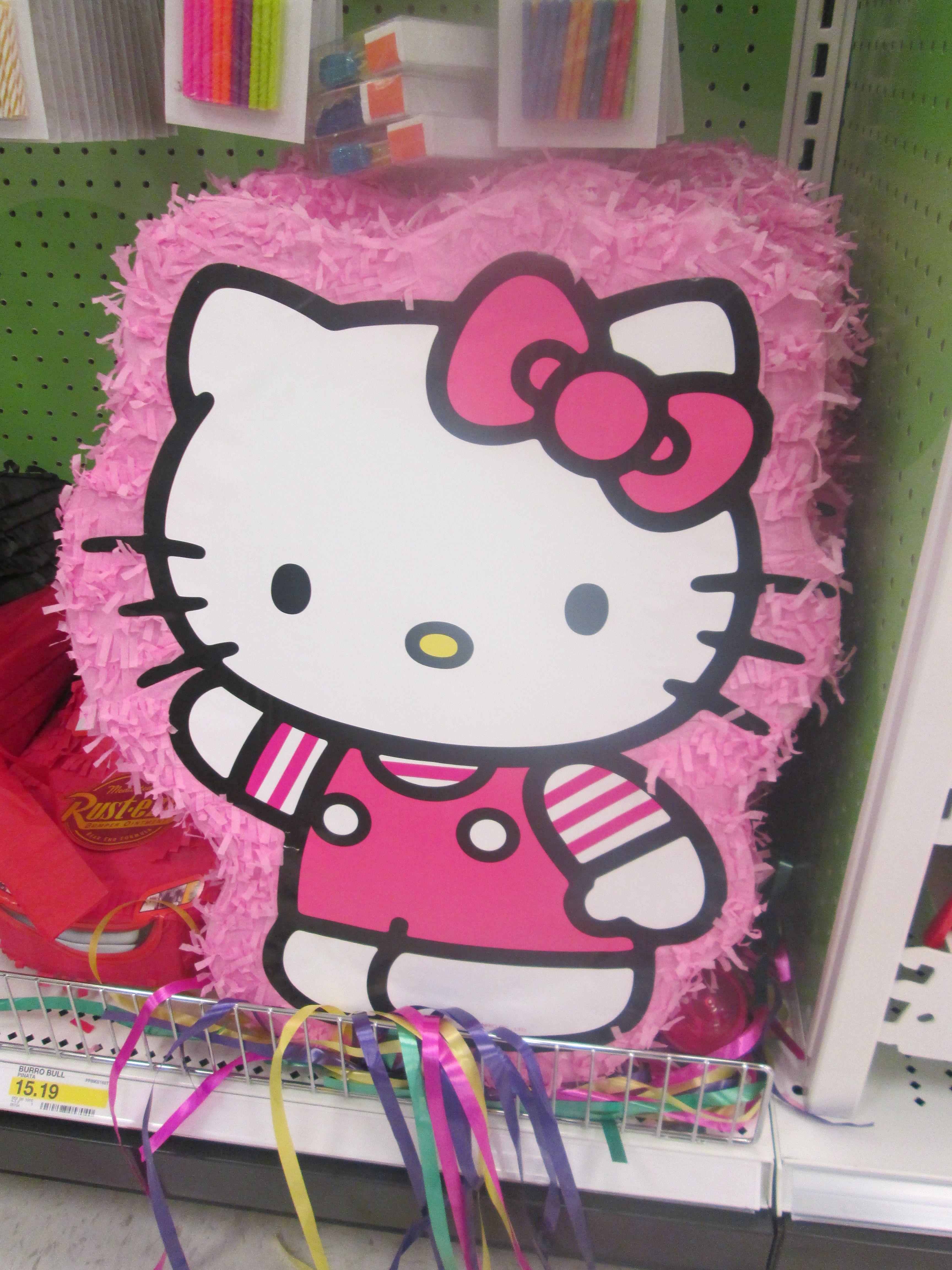 Hello Kitty pinata.