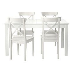 Ikea Bjursta Ingolf Table And 4 Chairs The Clear Lacquered Surface