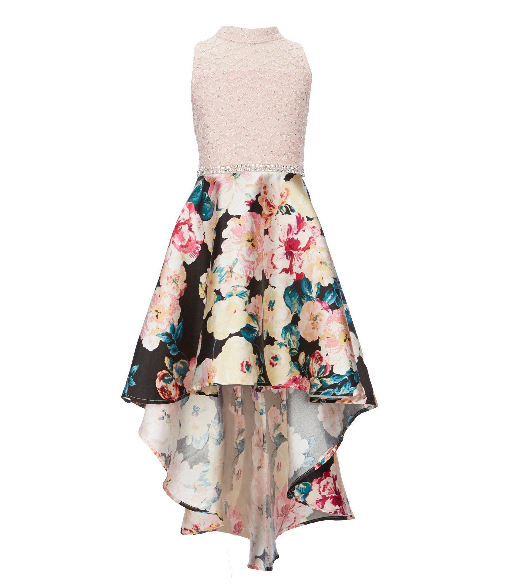 7552a693e Xtraordinary Big Girls 7-16 Embroidered Bodice High-Low Horse Hair Hem  Dress   Father Daughtr 2018 in 2019   Girls graduation dresses, Girls dance  dresses, ...