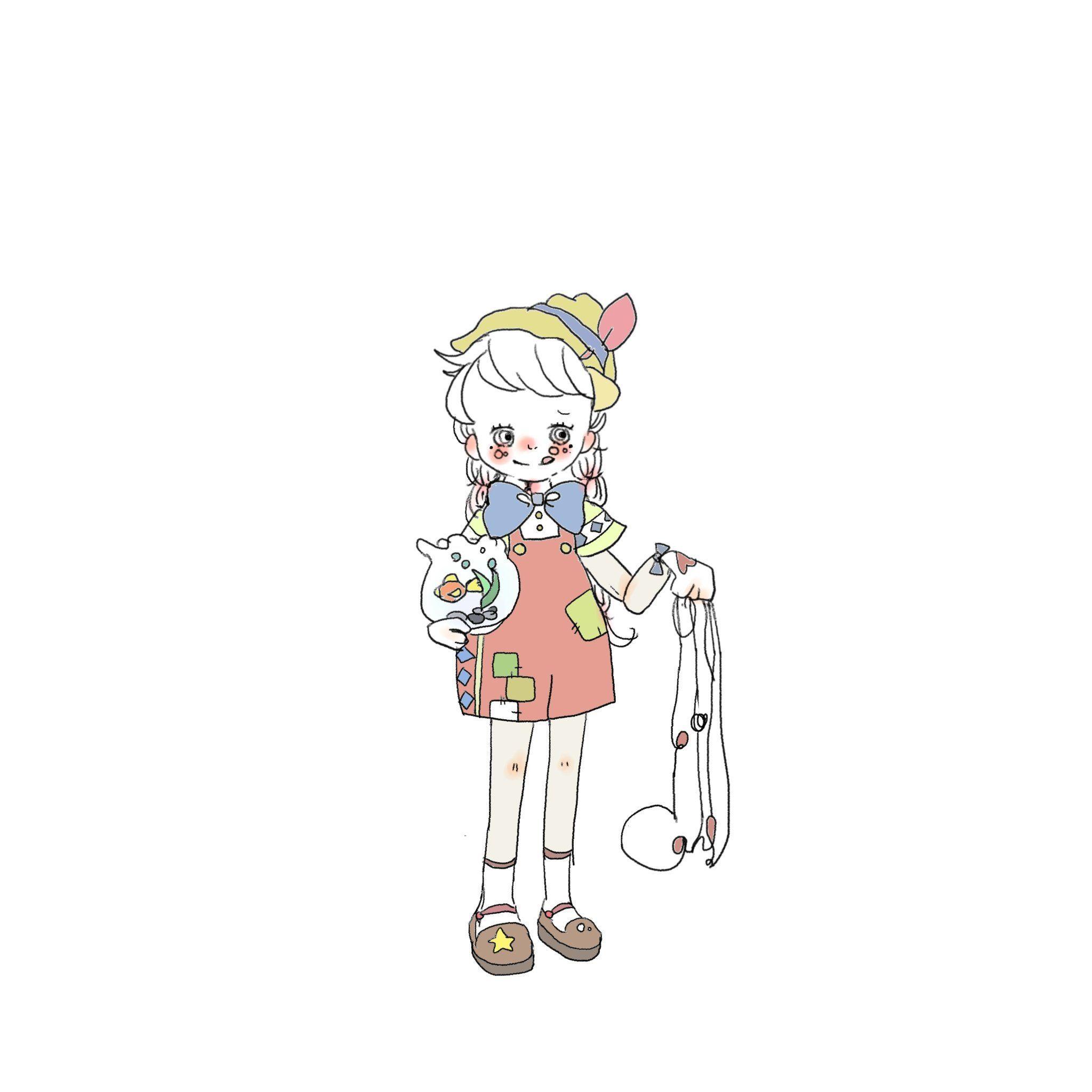 Twitter キュートなスケッチ キャラクターのスケッチ Caho イラスト