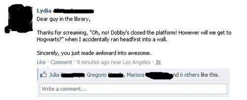 Since I am rereading Harry Potter----this brought on the giggles.