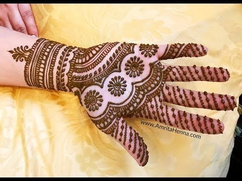Easy Full Hand Mehendi Simple Mehndi Henna Design Tutorial For