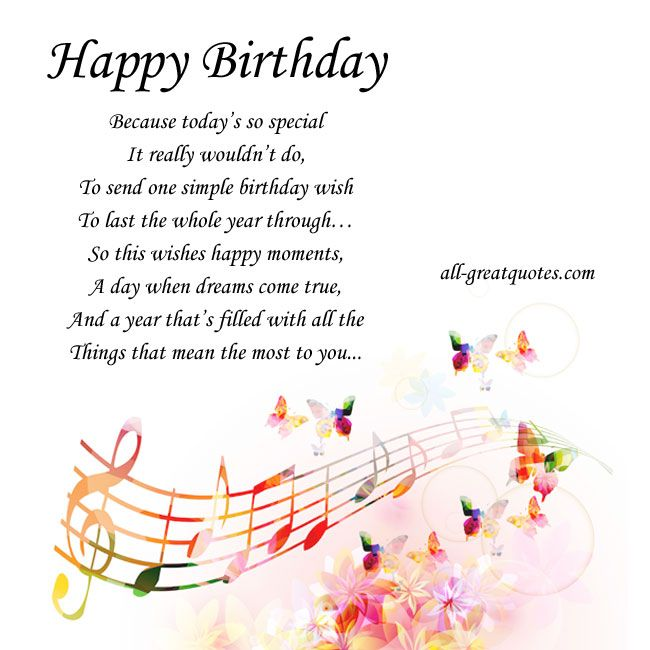 happy birthday because today