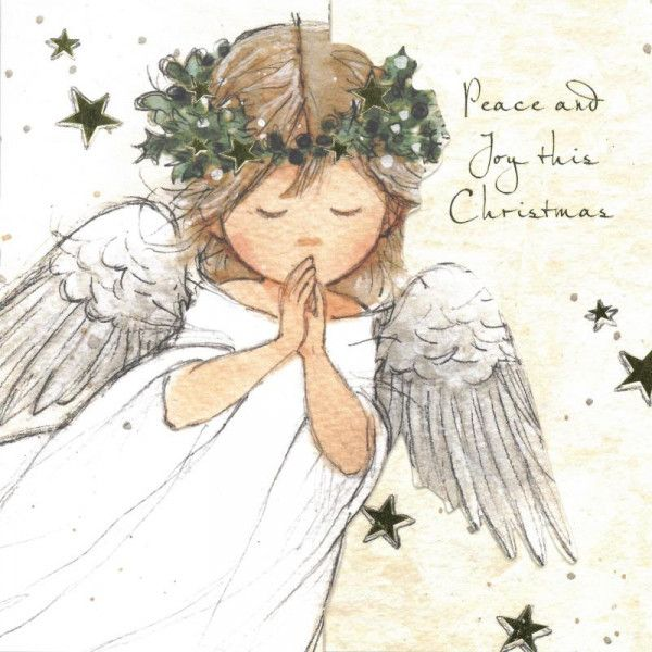 Angels Christmas Cards.Praying Angel Christmas Cards Tiernos Christmas Angels