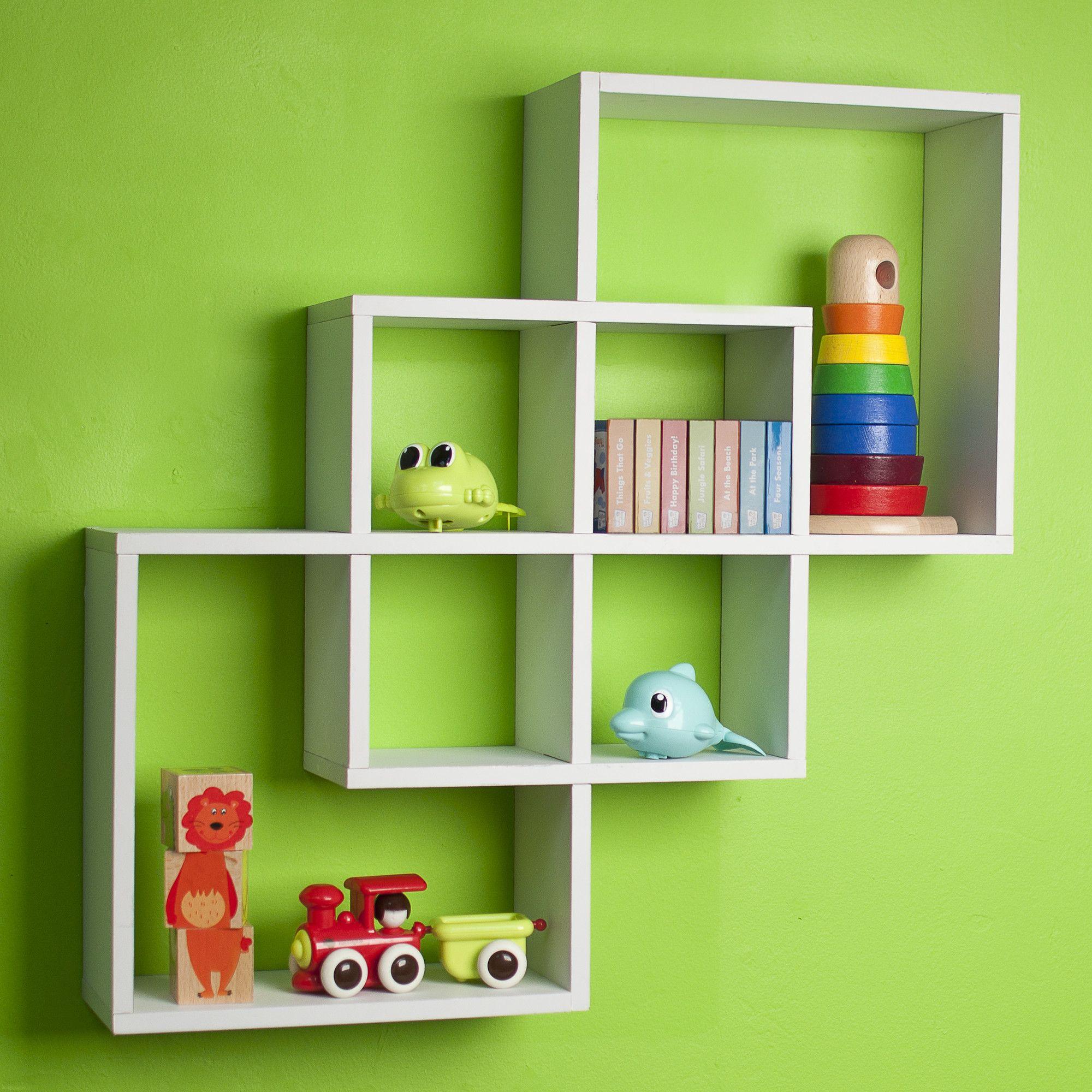 Intersecting Squares Wall Shelf Furniture Design Prateleira De