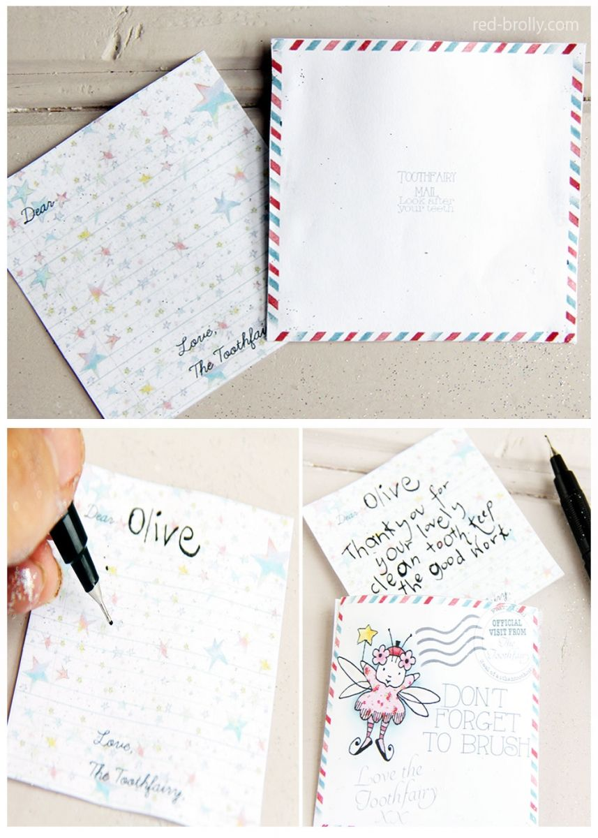 Dazzle your child with this enchanting tooth fairy letter for Fairy letters