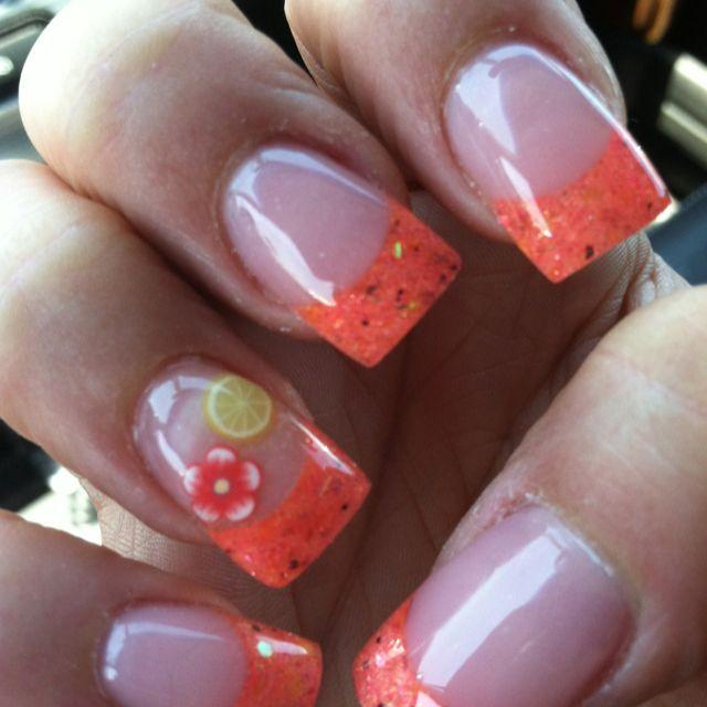 Lemon summer nails!   nails   Gel nails, Nails, Summer nails