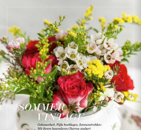 sommer vintage flowers
