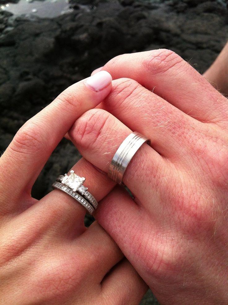 Wedding Ring With Wedding Band