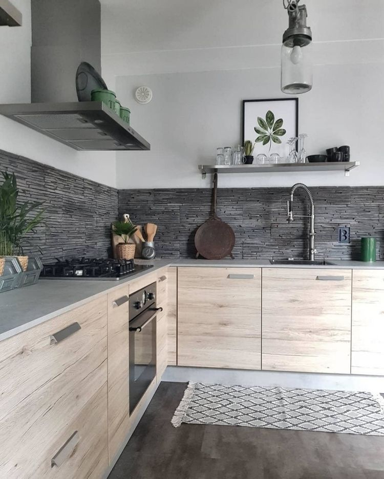 Ash Grey Cabinets Kitchen: Kitchen Grey Tiling Light Ash Cabinets