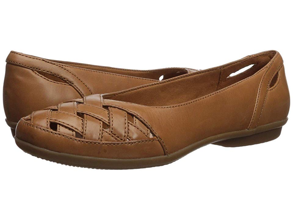 a0aa9a0b Clarks Gracelin Maze Women's Dress Flat Shoes Tan Leather | Products ...