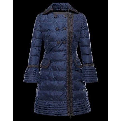huge selection of 68c4a 581f2 Outlet Piumini Moncler Donna Lungo Moncler Bitar Blu Saldi ...