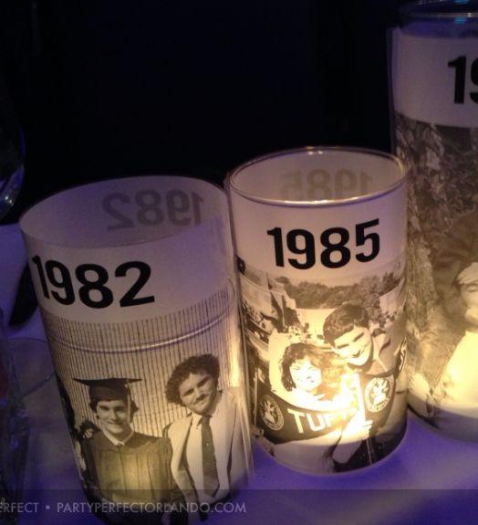 Wonderful diy photo th birthday centerpieces also rh pinterest