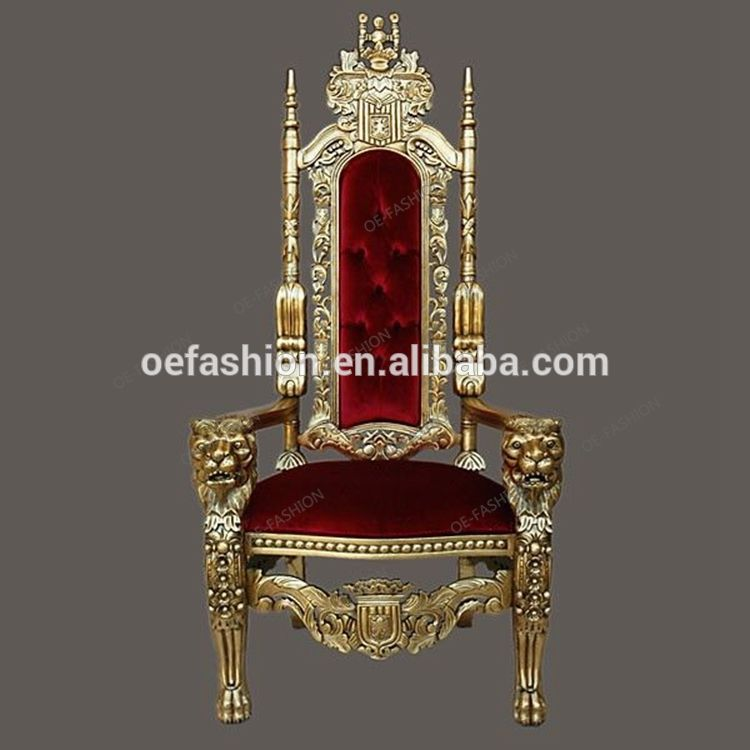 Oe Fashion Luxury Gold Royal King And Queen Throne S Chairs For Sale View King And Queen Chairs Oe Fashion Product Details From Foshan Oe Fashion Furniture C In 2020 King Chair Throne Chair Queen