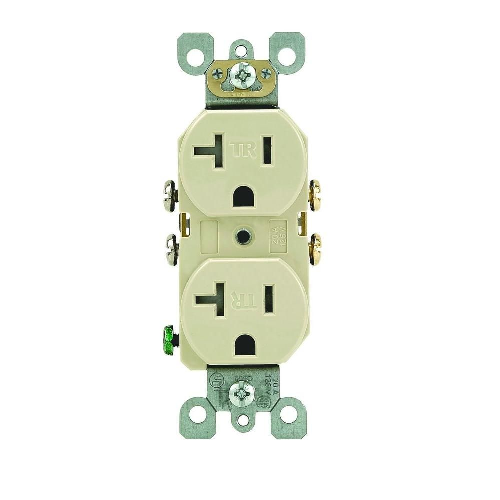 20 Amp Tamper Resistant Duplex Outlet Ivory Products Pinterest Nema 5 Plug Wiring Diagram