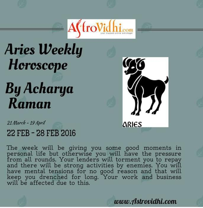 Read Aries Weekly Horoscope to predict your day  Also visit our