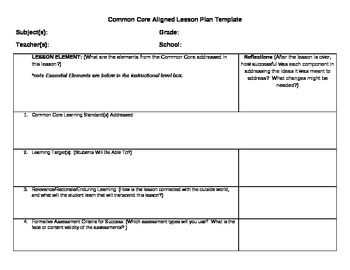 world language lesson plan template - common core lesson plan template with learning levels