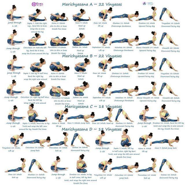 Happy Friday Beautiful Omies Episode 1 8 Ashtangavinyasawithelena Poses Of The Day Marichyasana With M Ashtanga Vinyasa Yoga Vinyasa Yoga Types Of Yoga