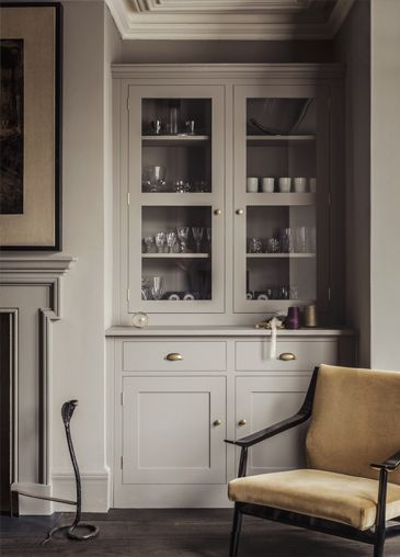 English And Kitchens Built In Cupboards Alcove Storage Country