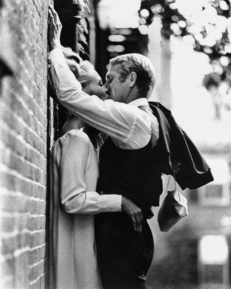 This Man And This Kiss Faye Dunaway Steve Mcqueen Thomas